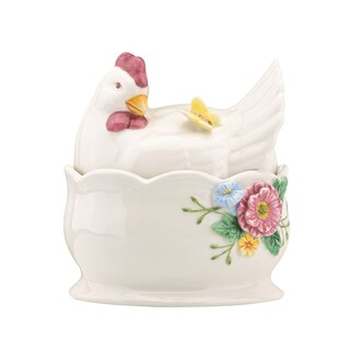 Lenox Butterfly Meadow Hen Covered Bowl