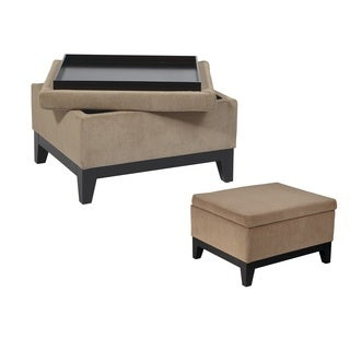 Ave Six Merge Storage Ottoman with Reversible Tray