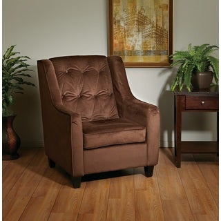 Ave Six Velvet Tufted Back Armchair