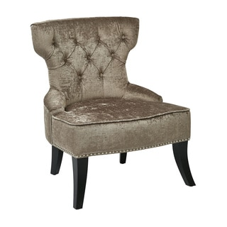 Ave Six Vintage Button Tufted Velvet Chair