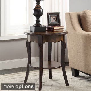 Roseville Round Top and Scalloped Edge Accent Table