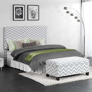 Chevron Accent Headboard