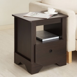 Furniture of America Maxwell Single Drawer Espresso Nightstand