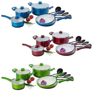 Happy Living 12-piece Ceramic Non-stick Cookware Set
