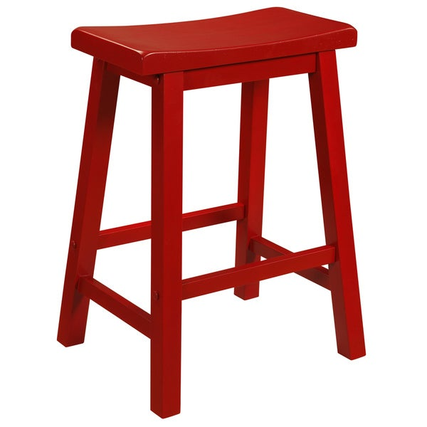 Oh! Home Laurell Crimson Red Counter Stool