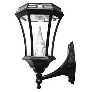Gama Sonic GS-94W Victorian Solar Light with 9 Bright-White LEDs, Wall Mount, Black Finish