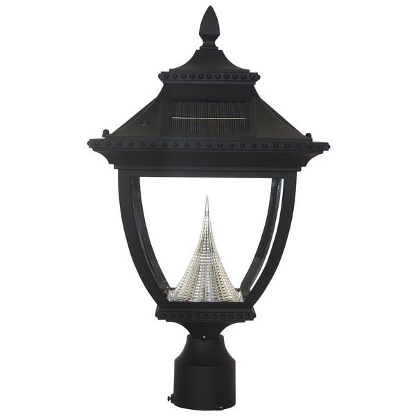 Solar Lights Home Bargains: Gama Sonic GS-104F Pagoda Solar Light With 8 Bright-White