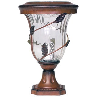 Gama Sonic GS-113P Flora Solar Light with 6 Bright-White LEDs, Pier Base for Flat Mount, Antique Bronze Finish