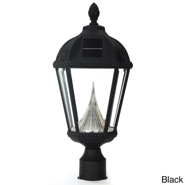 Gama Sonic GS-98F Royal Solar Light with 7 Bright-White LEDs, 3-Inch Fitter for Post Mount