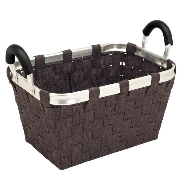 Woven Strap Small Tote with Aluminum Handles