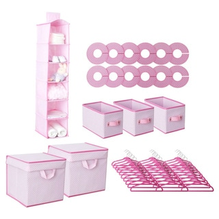 Delta 48-piece Nursery Closet Set in Barely Pink