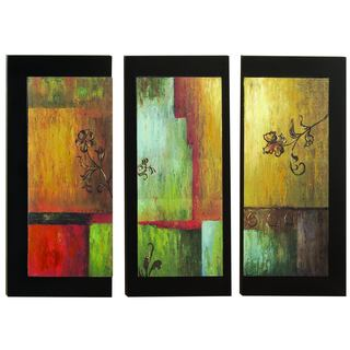 Wood Art Wall Decor 3-set Portraits