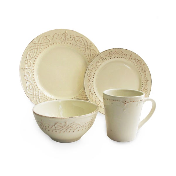 american atelier adriana cream 16 piece dinner set 16293083