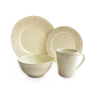 bianca bead white square 16 piece dinnerware set today