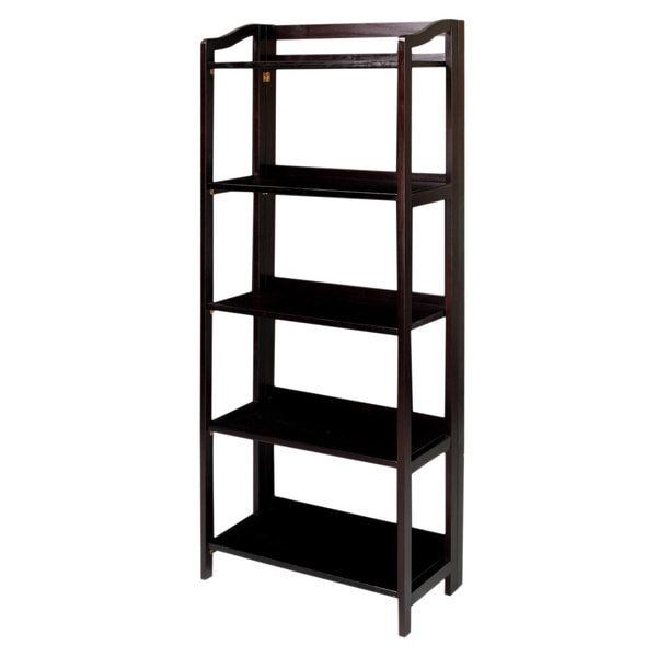 stratford 5 shelf folding bookcase overstock shopping the best - Folding Bookcase