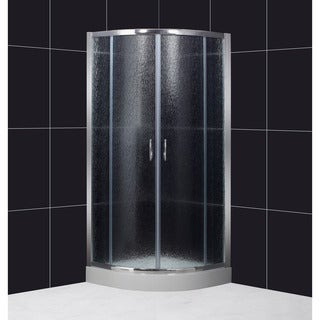 DreamLine Sector Shower Enclosure and 32.25x32.25-in Base, Rain Glass