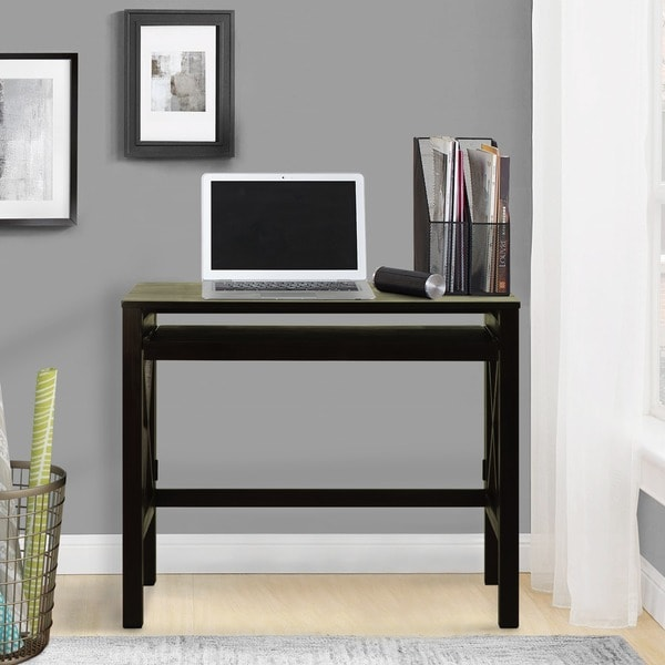 Montego Pull Out Tray Folding Desk 16293091 Overstock