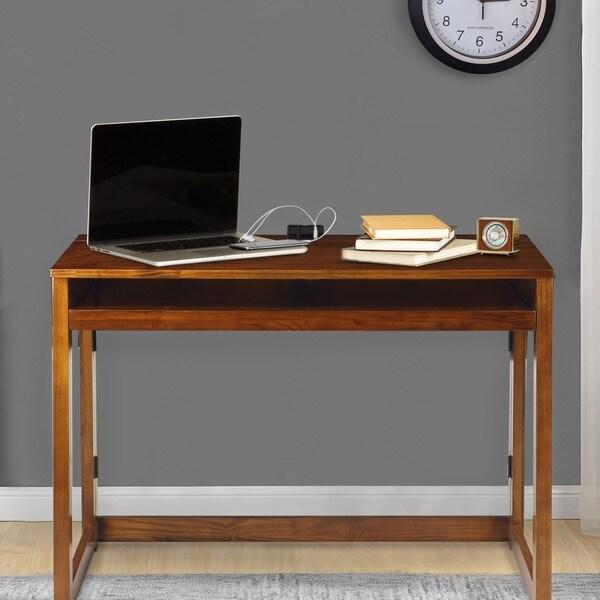 Modern Folding Desk With 4 Usb Ports 16293092