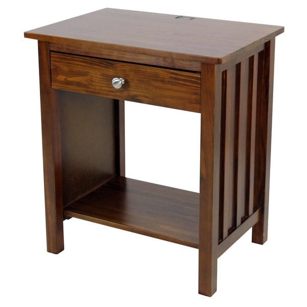 vanderbilt night stand end table with 4 usb ports overstock shopping great deals on nightstands. Black Bedroom Furniture Sets. Home Design Ideas