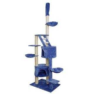 OxGord Blue / White 101-inch Cat Tree