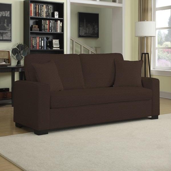 Portfolio Mona Bark Brown Chenille SoFast Sofa