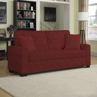 Portfolio Mona Sangria Red Chenile SoFast Sofa