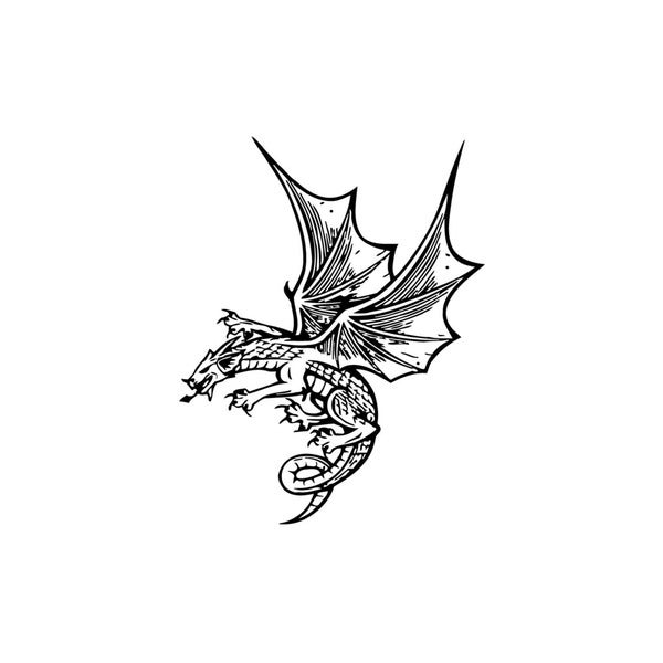 Flying Dragon Vinyl Wall Art
