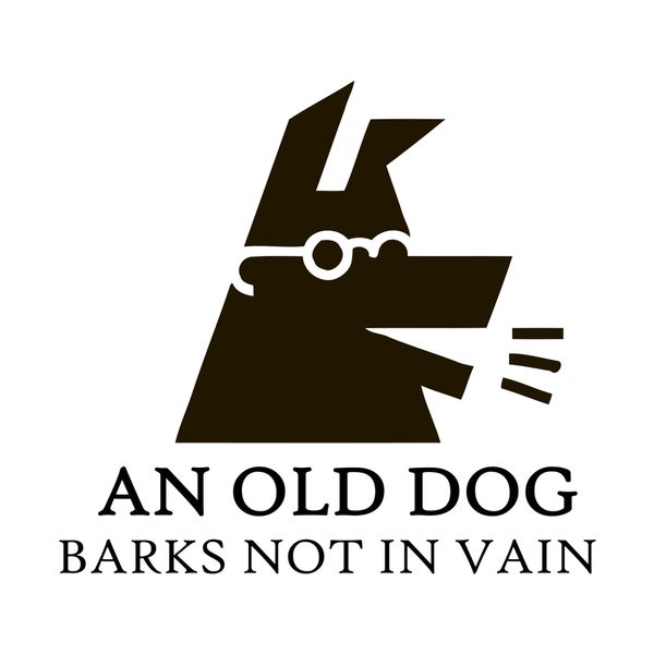 Old Dog Barks Quote Vinyl Wall Art