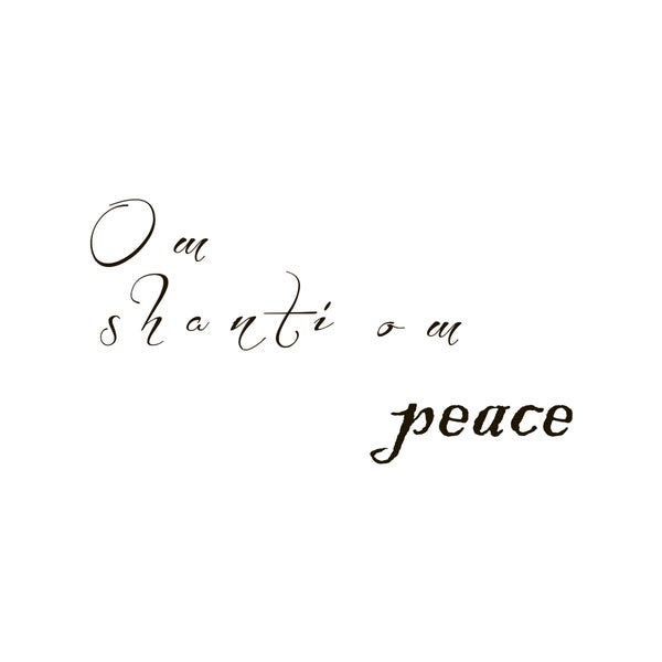 Our Peace Calm Quote Vinyl Wall Art
