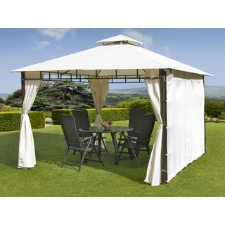 White 9-foot 8-inch Casablanca Gazebo