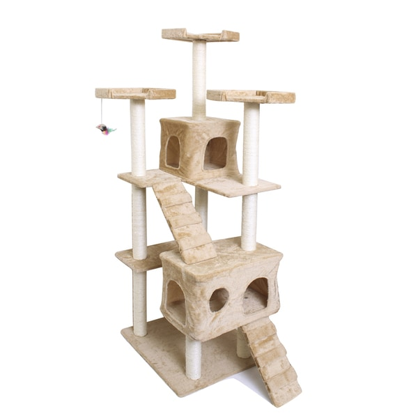 OxGord Beige 72-inch Cat Tree