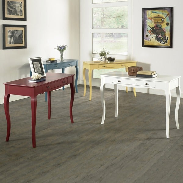 Inspire Q Shemar 1 Drawer Flared Legs Office Desk
