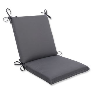 Pillow Perfect Squared Corners Chair Cushion with Charcoal Sunbrella Fabric