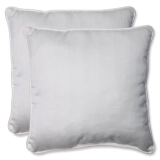 Pillow Perfect 18.5-inch Throw Pillow with Sunbrella Trax Salt Fabric (Set of 2)