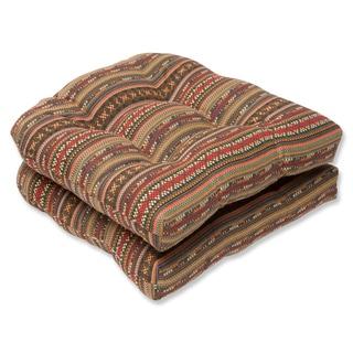 Pillow Perfect Wicker Seat Cushion with Sunbrella Chimayo Fabric (Set of 2)
