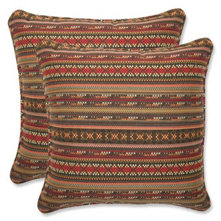 Pillow Perfect 18.5-inch Throw Pillow with Sunbrella Chimayo Fabric (Set of 2)