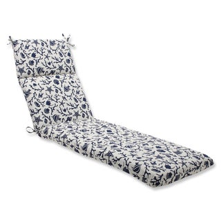 Pillow Perfect Chaise Lounge Cushion with Bella-Dura Sanibel Navy Fabric