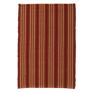 Wexford Red Cotton Indoor/ Outdoor Stripe Rug (2' x 3')