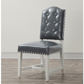 Allure Grey Leather Dining Chair (Set of 2)