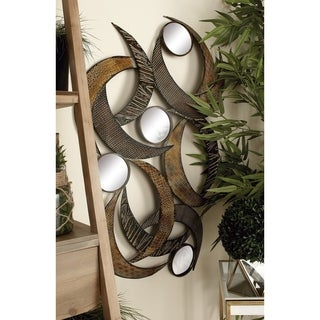 24-inch Metal Mirror Wall Plaque