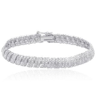 Finesque Sterling Silver 2 1/2ct TDW Diamond Bracelet (I-J, I2-I3)