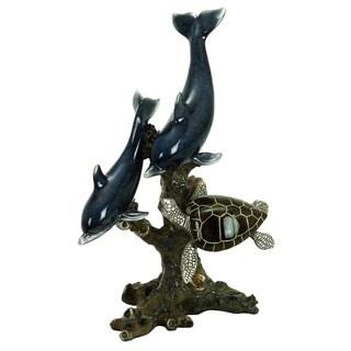 Polystone Dophin/ Seaturtle Sculpture