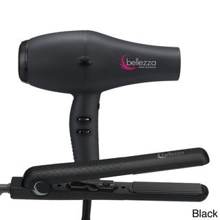 Bellezza Pro Beauty Ionic Ceramic Hair Dryer and Ceramic Flat Iron Set