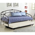 Hand-painted Espoo Silver/ Black Daybed with Trundle