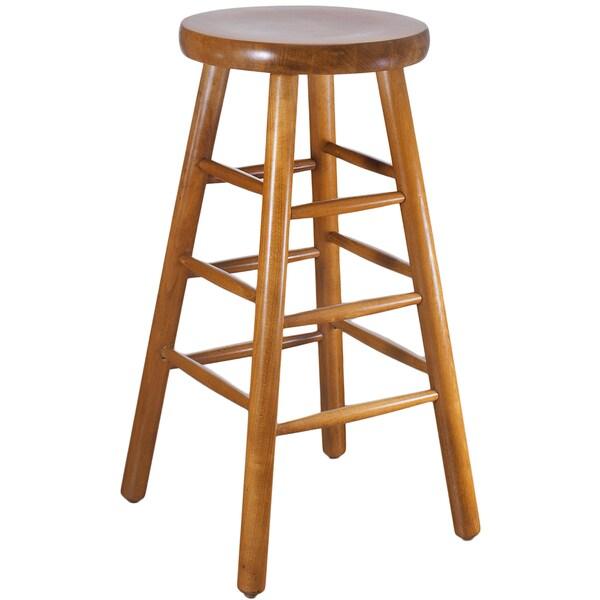Backless Beech Wood Bar Stool 16293592 Overstock Com