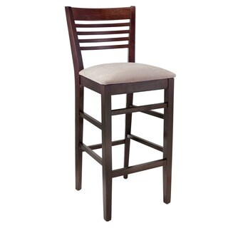 Venetian Upholstered Beech Wood Bar Stool