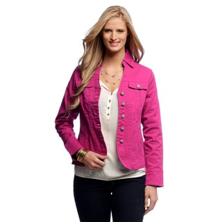 Women's Pink Seam Split Collar Jacket