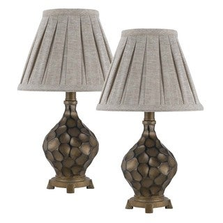 Cal Lighting Iron Resin Accent Lamps (Set of 2)