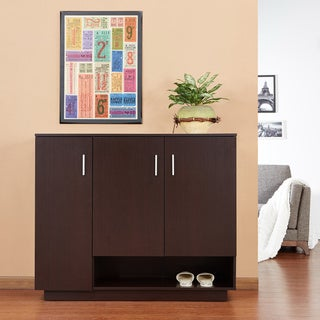 Furniture of America Anders 6-shelves Shoes Cabinet, Walnut