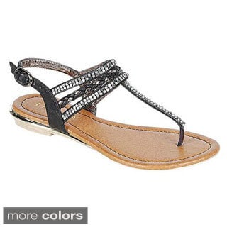 Liliana HEBE-1 Women's T-strap Thong Sandals